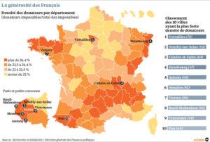 Générosité des Français par région